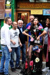 Bianca Balti - Photoshoot for Dolce & Gabbana in Naples 4/8/2016