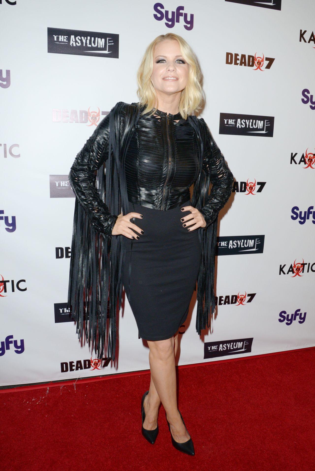 Carrie Keagan Syfy S Dead 7 Premiere In Los Angeles