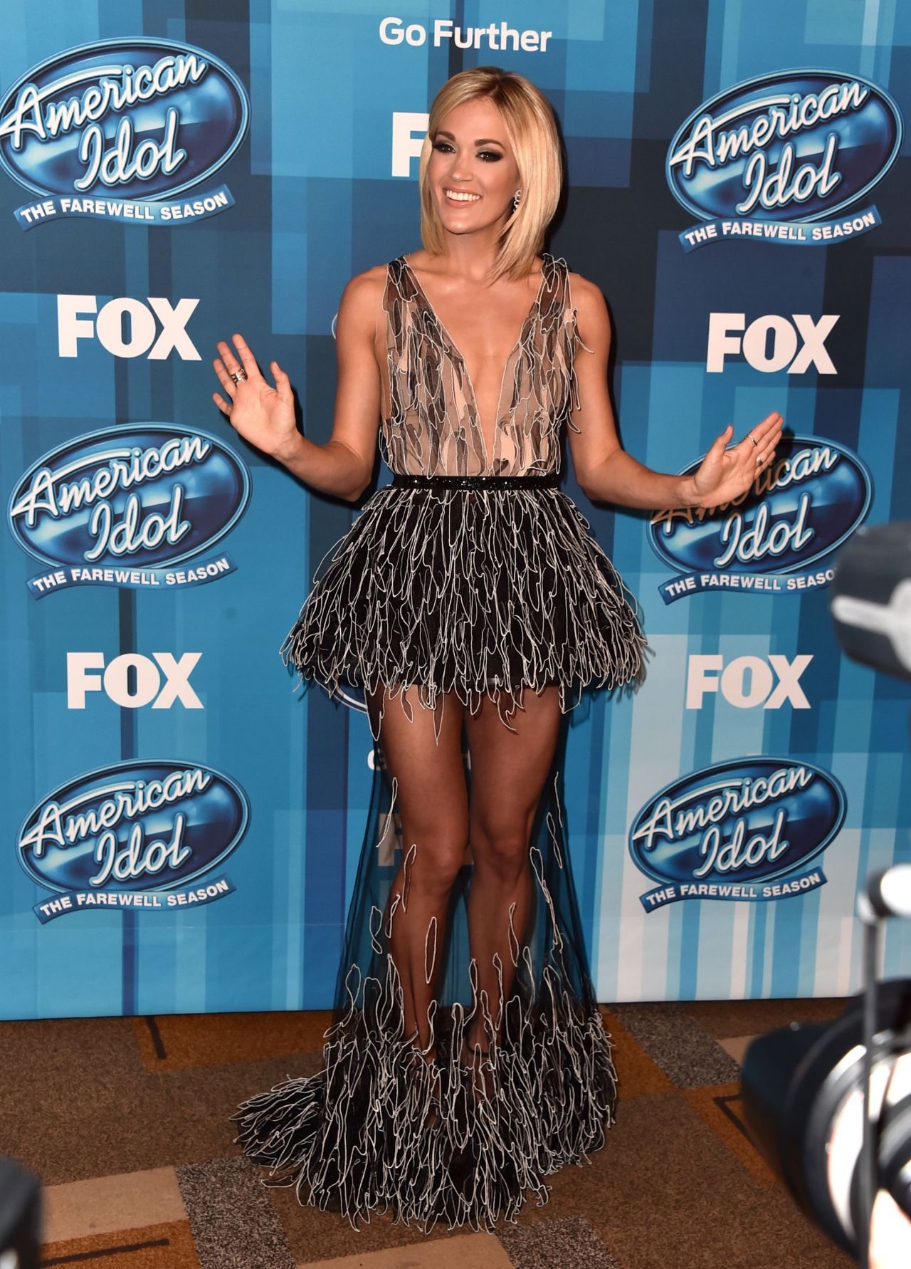 Carrie idol finale upskirt