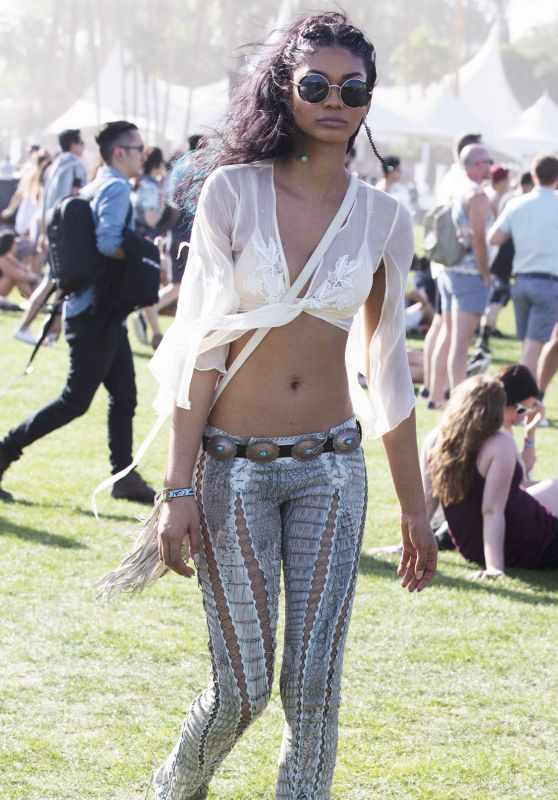 Chanel Iman - Arriving to Coachella 4/15/2016