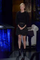 Charlize Theron - On Che Tempo Che Fa in Milan, Italy 3/31/2016