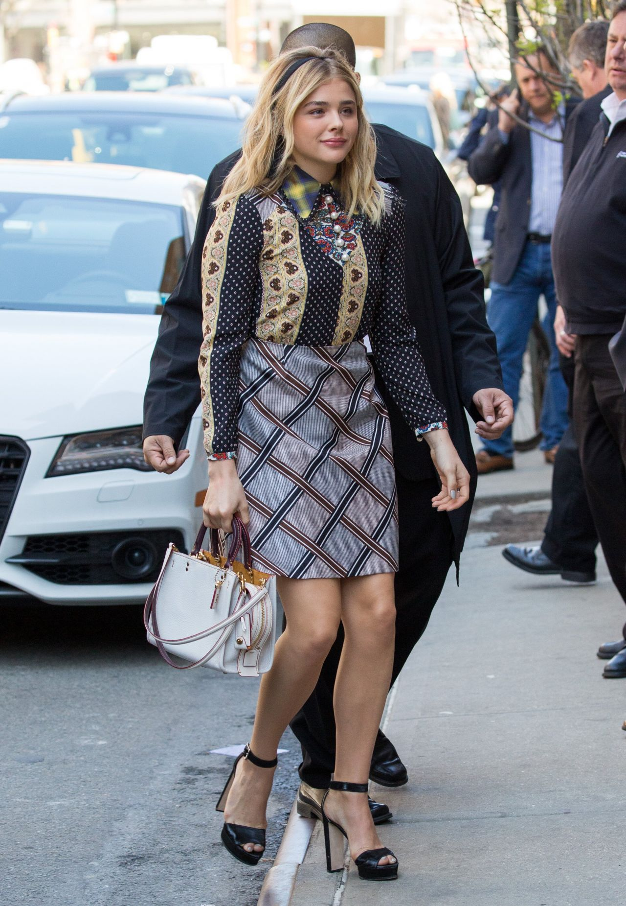 Chloe Moretz Street Style - Arrives at Her Hotel in New