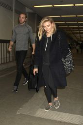 Chloe Moretz Airport Style - LAX in Los Angeles 4/12/2016