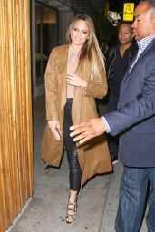 Chrissy Teigen Night Out Style - in West Hollywood 4/23/2016