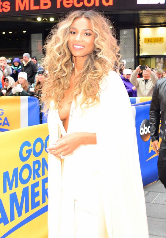 Ciara Stops by Good Morning America to Announce the Billboard Nominees 4/11/2016