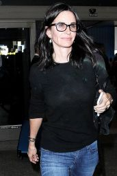 Courteney Cox at LAX Airport in Los Angeles 4/20/2016