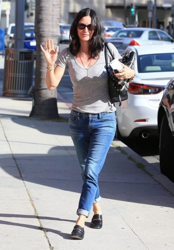 Courteney Cox Street Style - Out in Beverly Hills 4/25/2016