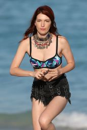 Dani Thorne at a Beach in Miami 4/7/2016