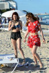 Dani Thorne at a Beach in Miami 4/7/2016