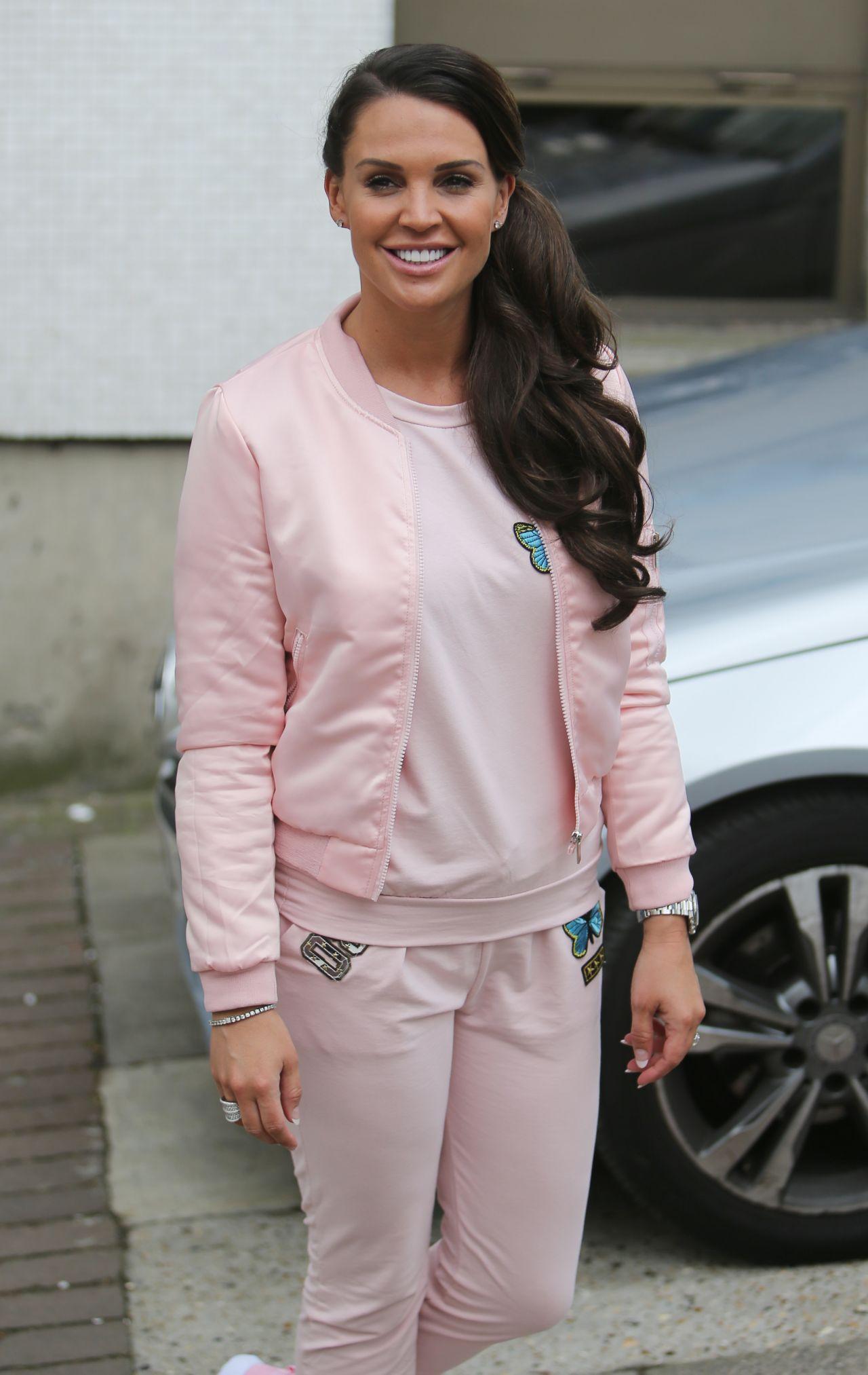 Danielle Lloyd Outside ITV Studios In London 4142016