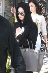 Demi Lovato Wears Her Hood Up - Los Angeles 3/30/2016