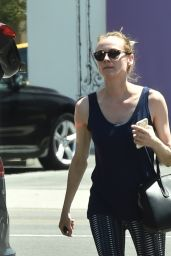 Diane Kruger in Leggings - Out in West Hollywood 4/20/2016