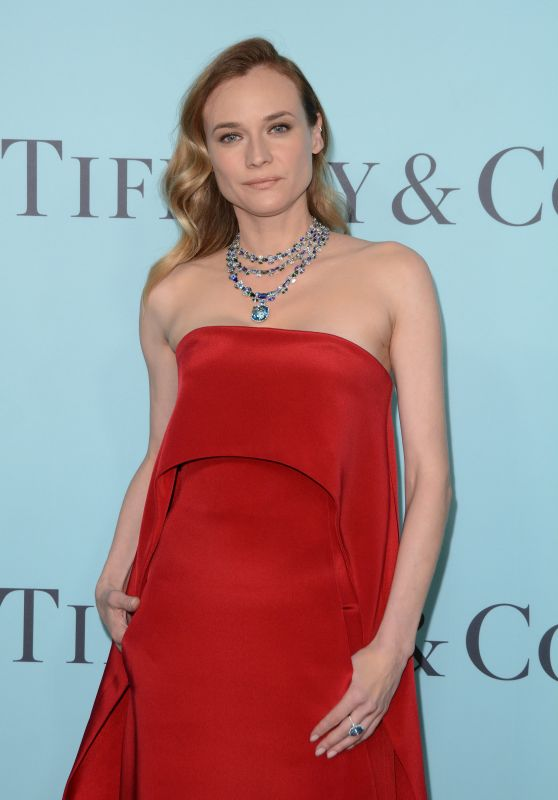 Diane Kruger on Red Carpet - Tiffany & Co. Blue Book Gala in NYC 4/15/2016