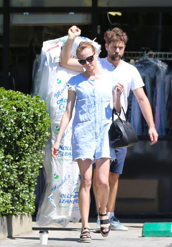 Diane Kruger - Picks up Her Dry cleaning in Los Angeles 4/24/2016