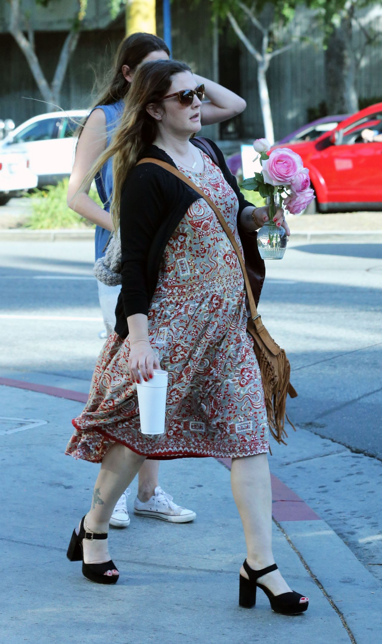 Drew Barrymore Street Style - Out in Los Angeles 4/5/2016