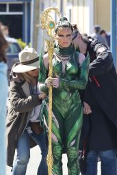 Elizabeth Banks as Rita Repulsa on the Set of