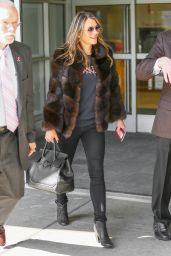 Elizabeth Hurley Airport Style - at JFK in New York City 4/11/2016