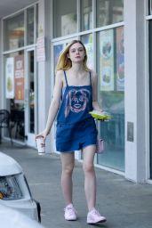Elle Fanning - Leaving El Pollo Loco in West Hollywood 4/6/2016