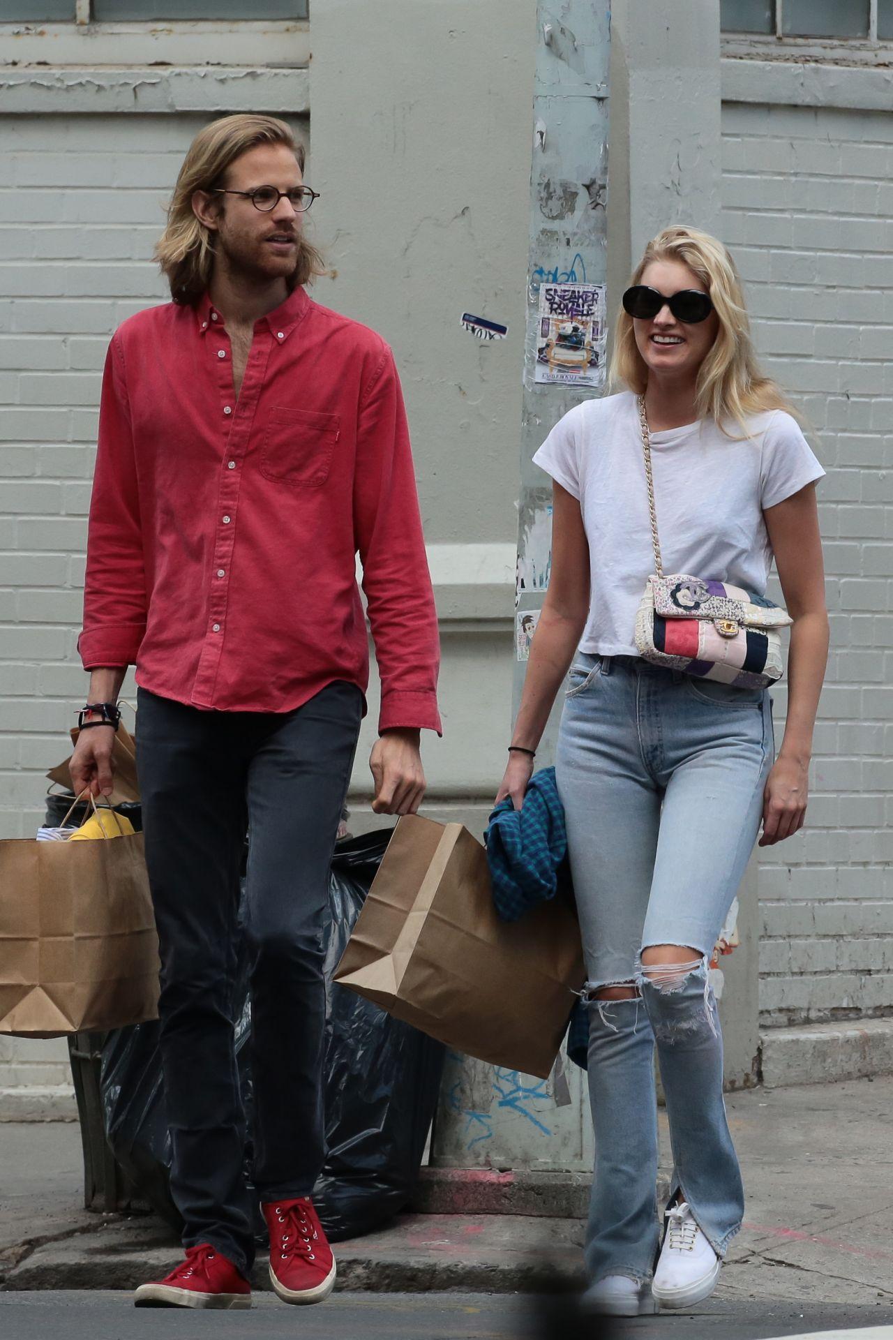 Elsa Hosk With A Boyfriend Tom Daly Shopping In Soho New