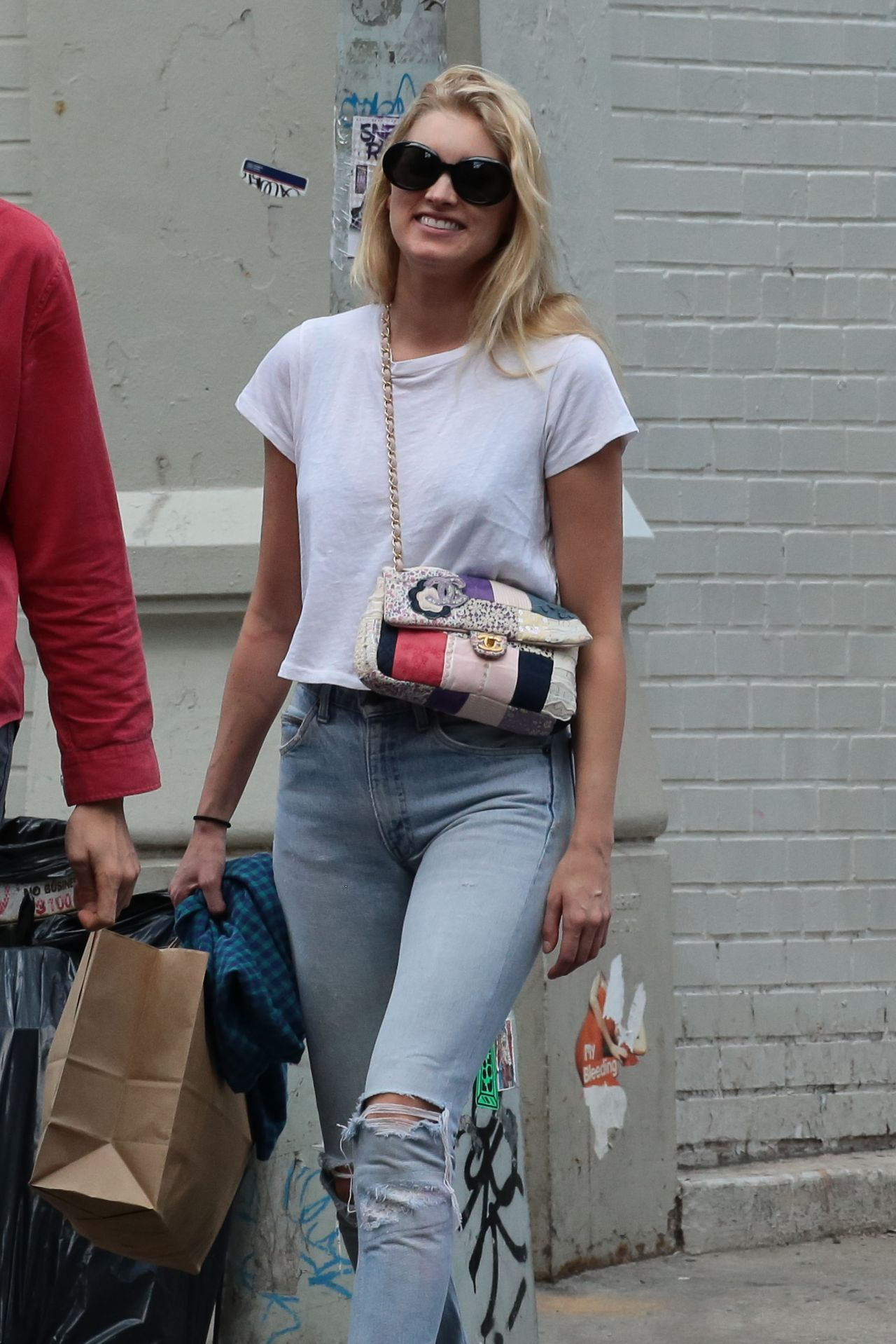 Elsa Hosk With A Boyfriend Tom Daly Shopping In Soho New