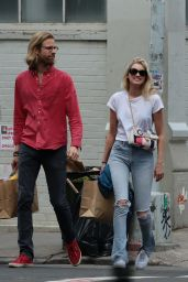 Elsa Hosk With a Boyfriend Tom Daly - Shopping in Soho New York, April 2016