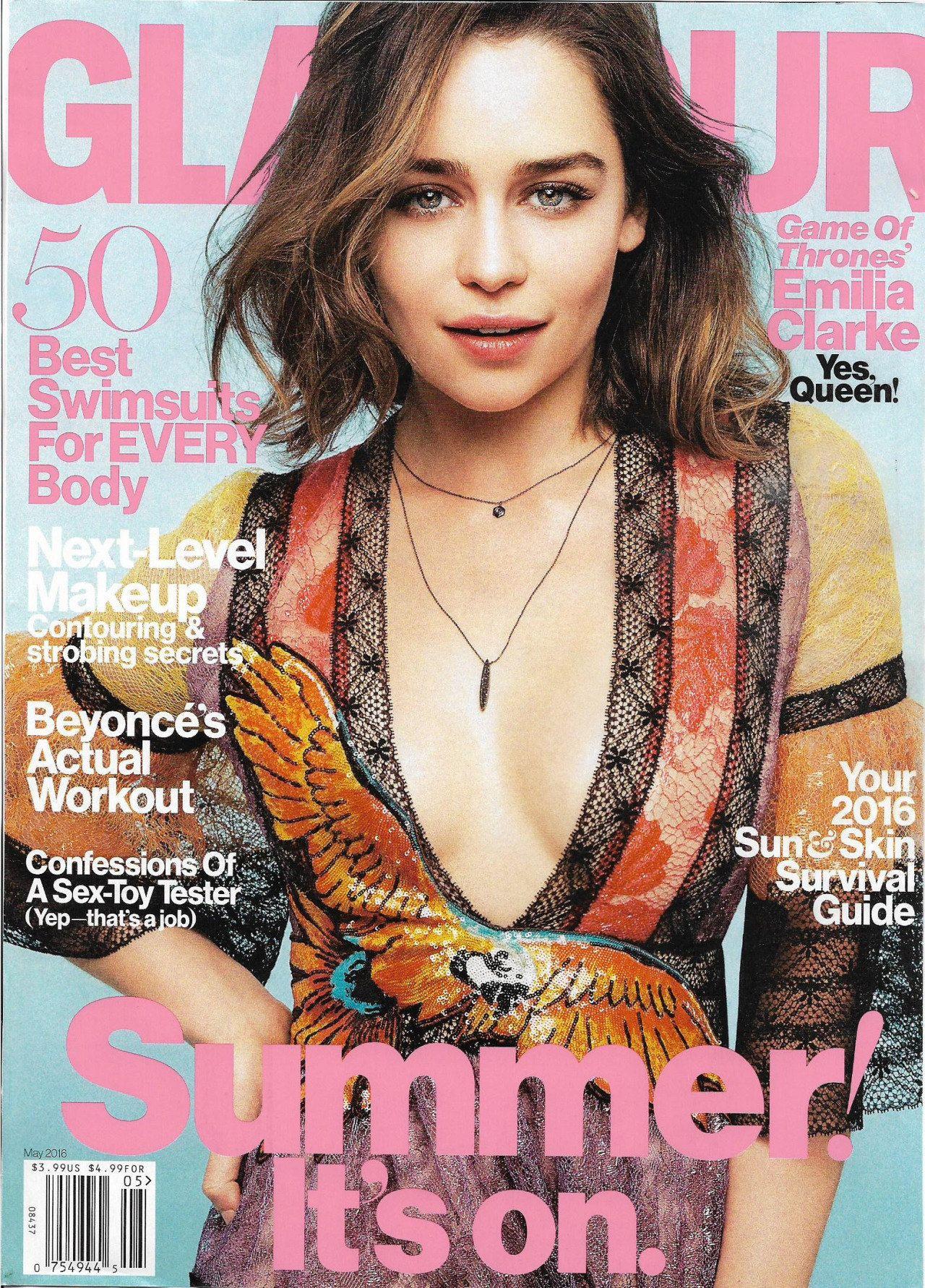 Emilia Clarke - Glamour Magazine May 2016 Issue