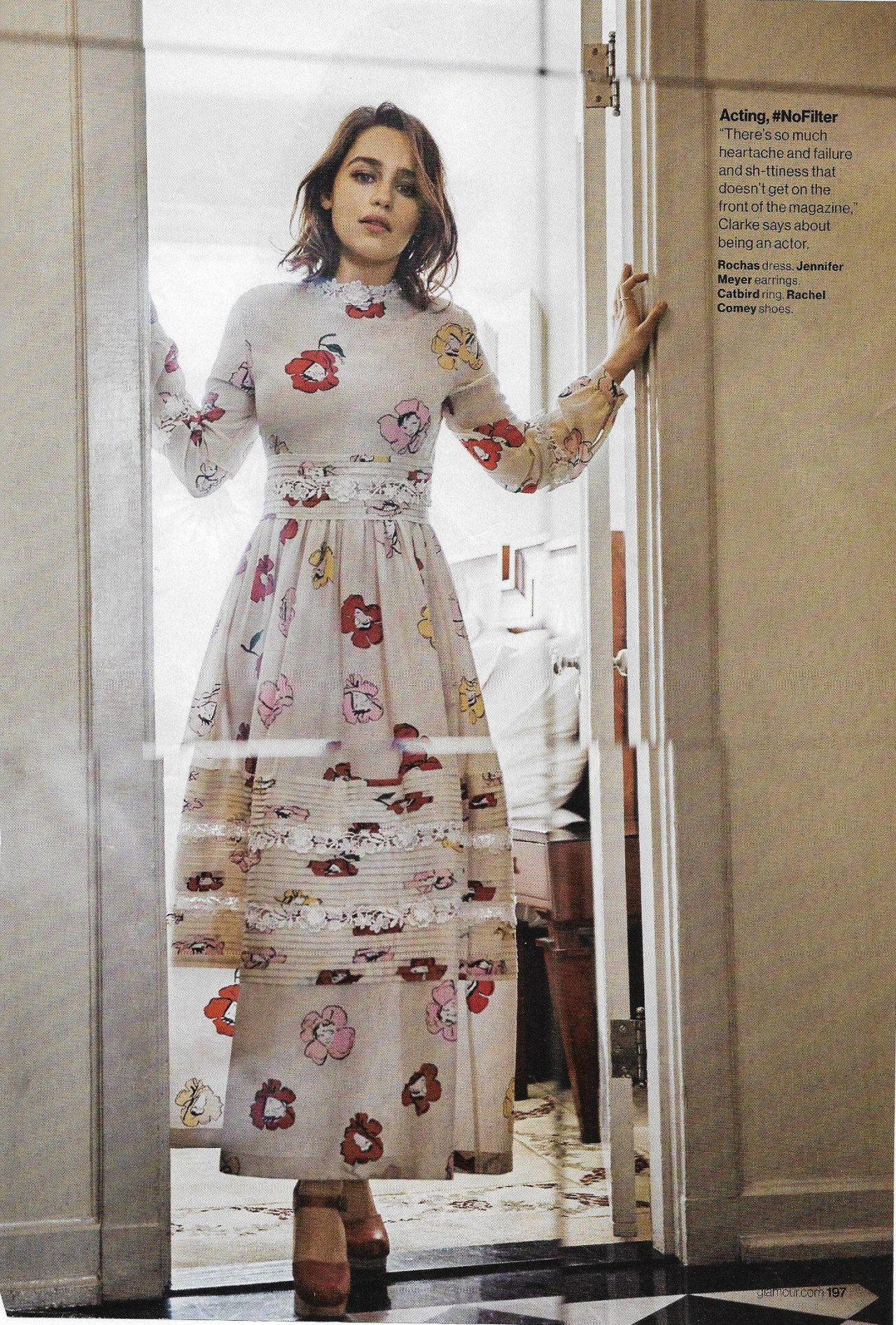 Emilia Clarke Glamour Magazine May 2016 Issue