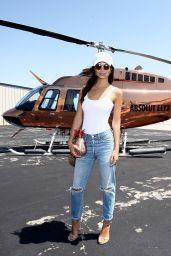 Emily Ratajkowski - Boarding the Absolut Elyx Copper Chopper to Coachella, Santa Monica 4/14/2016