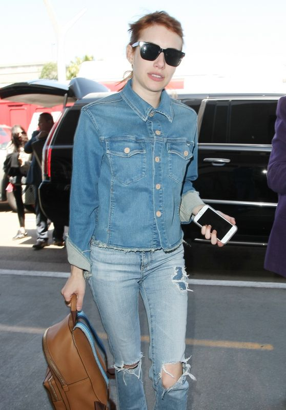 Emma Roberts at LAX Airport 4/28/2016