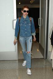 Emma Roberts at LAX Airport 4/28/2016