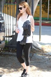 Emma Roberts in Leggings - at the Gym in West Hollywood 4/11/2016