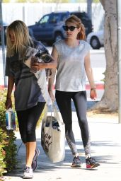 Emma Roberts in Spandex - Leaving the Gym in LA, 4/5/2016