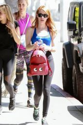 Emma Roberts - Leaving a Gym in Los Angeles 4/1/2016