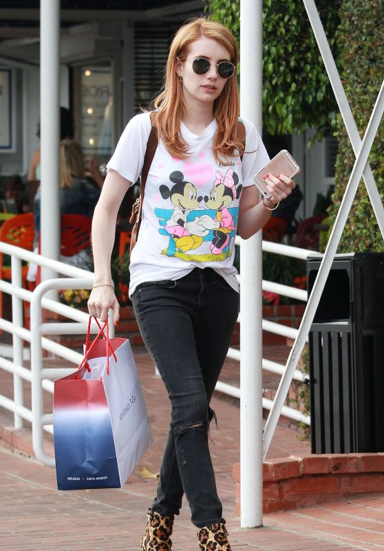 Emma Roberts Style - Shopping in Los Angeles 4/6/2016