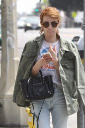 Emma Roberts Urban Outfit - Out in West Hollywood 4/26/2016
