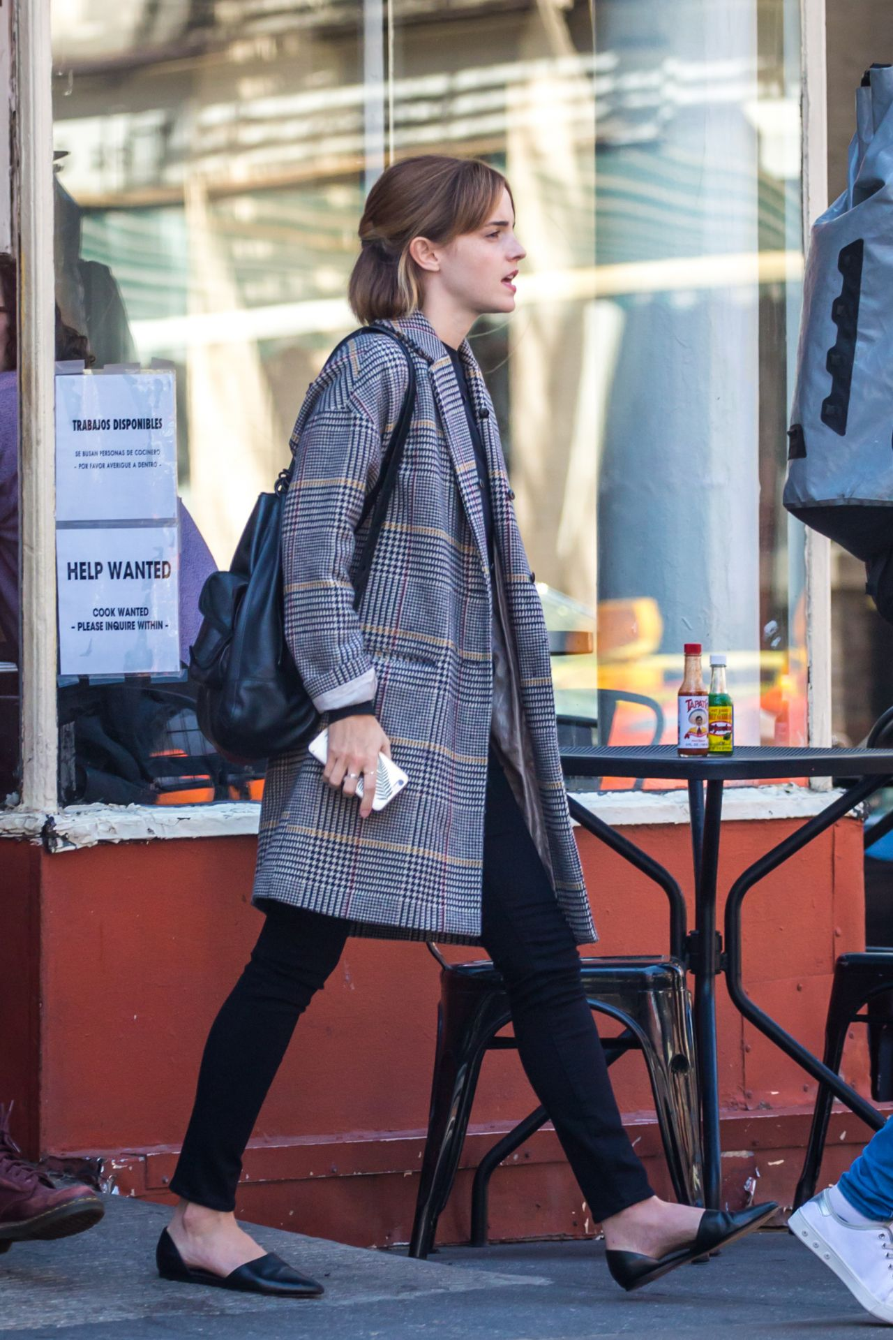 Emma Watson Casual Outfit Heading Out From A Restaurant