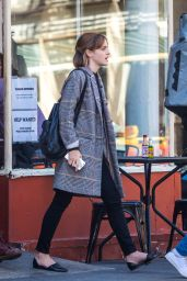 Emma Watson Casual Outfit - Heading Out From a Restaurant in New York 4/27/2016