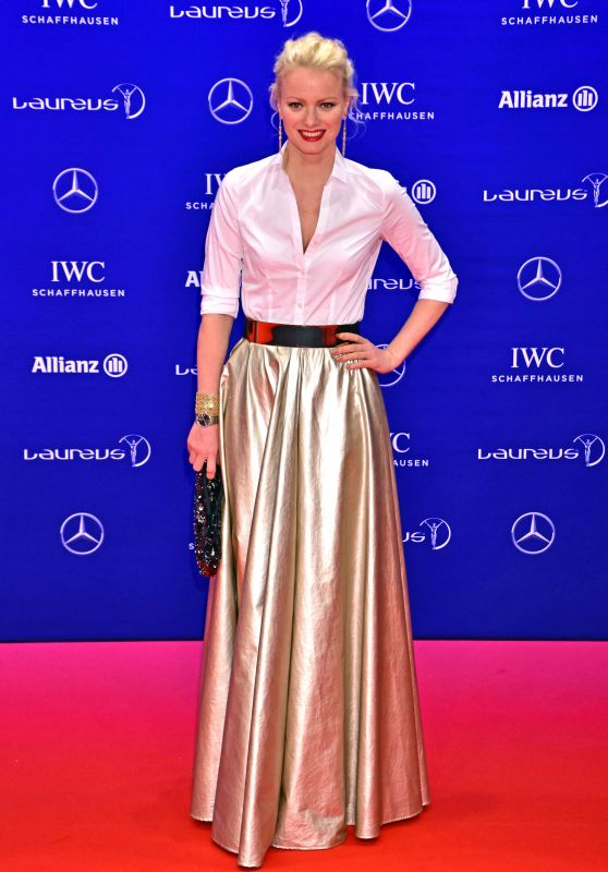 Franziska Knuppe - Laureus World Sports Awards at Messe Berlin 4/18/2016