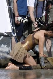 Gal Gadot On the Set of