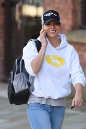 Gemma Atkinson in Jeans - Leaving Key 103 Radio Station in Manchester 4/19/2016