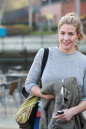 Gemma Atkinson Street Style - Leaving Key 103 Radio Station in Manchester, UK 4/13/2016