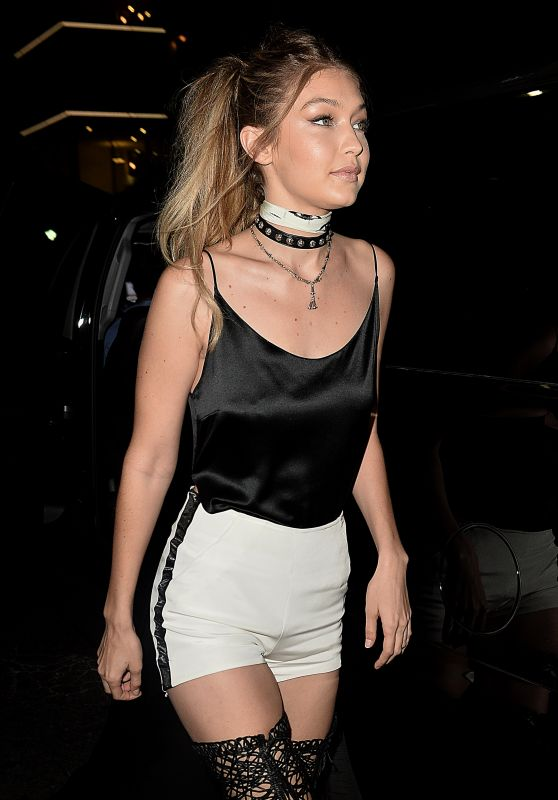 Gigi Hadid Night Out Style - at the Nice Guy in West Hollywood 4/28/2016