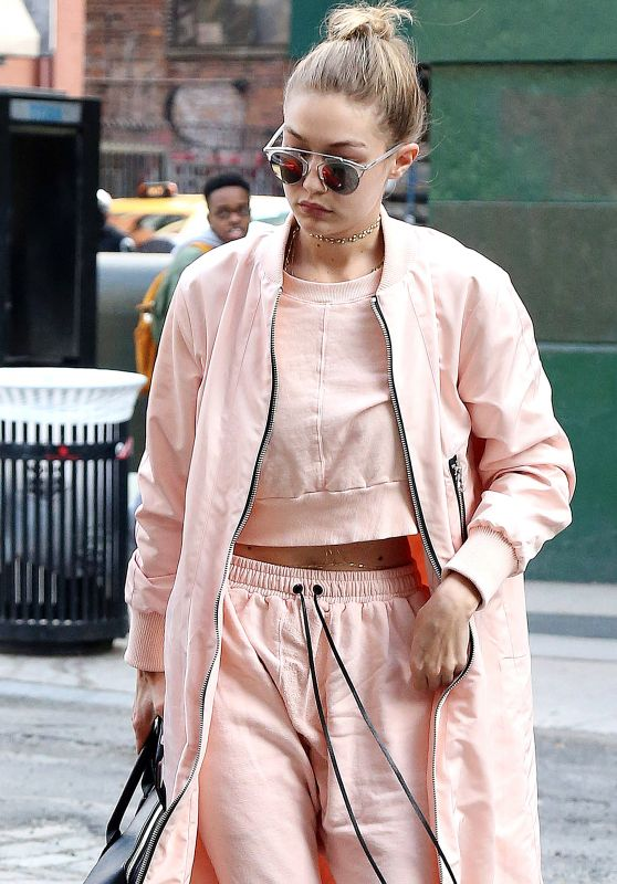 Gigi Hadid Street Style - Out in New York City 4/11/2016