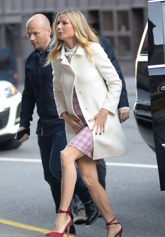 Gwyneth Paltrow Style - Visiting CBS This Morning in Manhattan, NY 4/13/2016