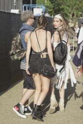 Hailey Baldwin at Coachella 2016 week 1 day 1 in Indio 4/15/2016