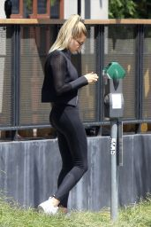Hailey Baldwin With a Large Bruise on Her Chest - Los Angeles 4/27/2016