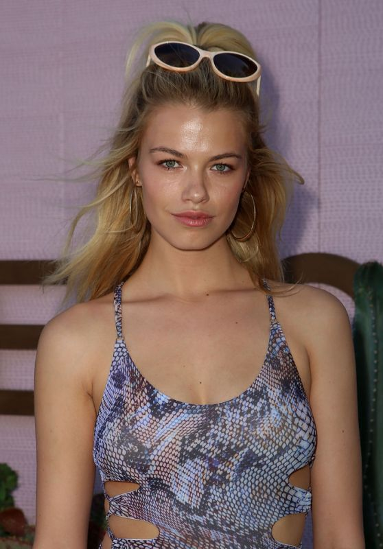 Hailey Clauson in Swimsuit – Revolve House at Coachella 4/16/2016