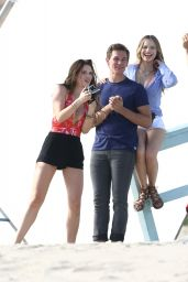 Halston Sage - On Set of