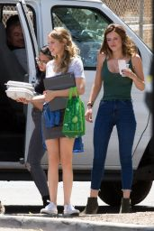 Halston Sage - On the Set of