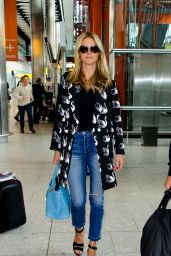 Heidi Klum at Heathrow Airport in London 4/23/2016